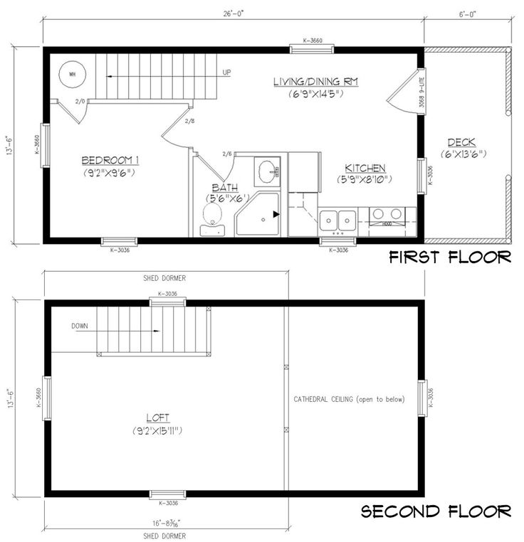 Lovely Vacation Home Floor Plans Modular Part - 14: 13 Ft 6 In X 26 Ft Cayuga - Modular Cabin By Wood-Tex
