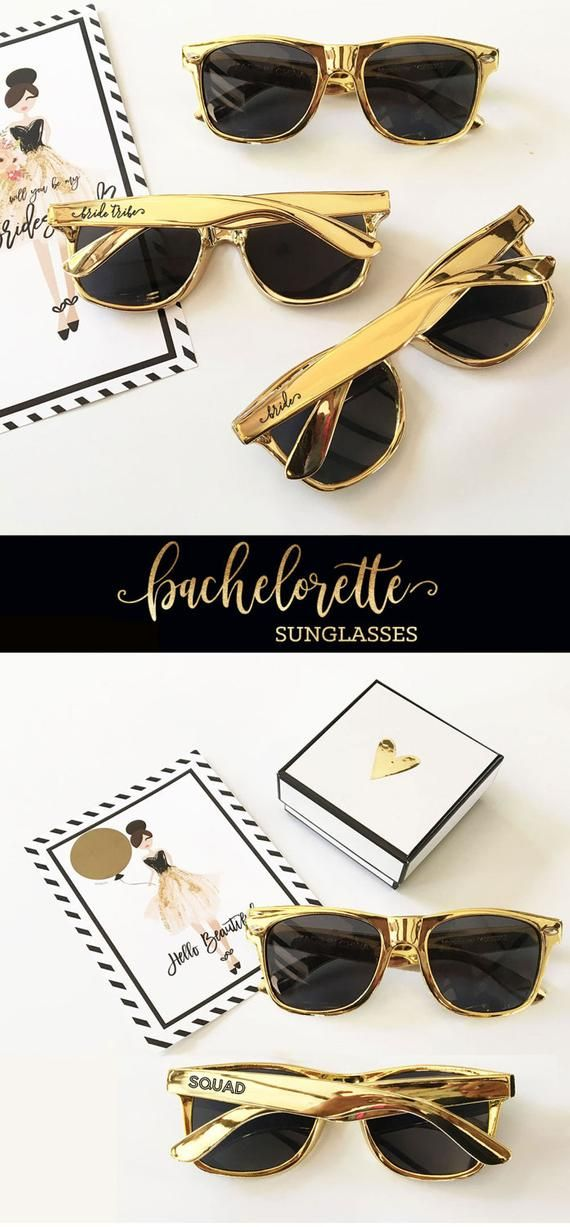 1ca26c278d4 Bride Tribe Sunglasses -Metallic Gold Sunglasses-Bachelorette Sunglasses -  Bachelorette Party Sunglasses - Bridesmaid Sunglasses (EB3181TRB)