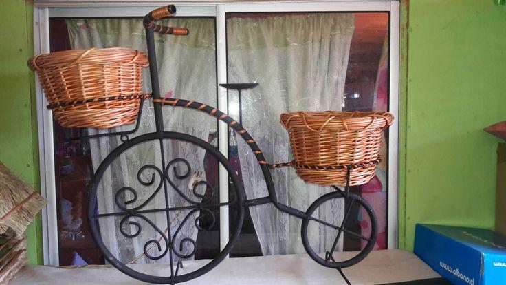 Bicicleta porta macetas