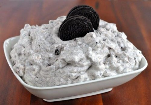 Food Family Finds » Recipe | White Chocolate OREO Fluff Dessert: Boxes White, White Chocolates, Cups Minis, Fluff Dips, Instant Puddings, Oreo Fluff, Chocolates Instant, Puddings Mixed, Minis Marshmallows