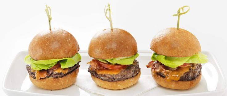 Mini burgers from Cactus Club Cafe.