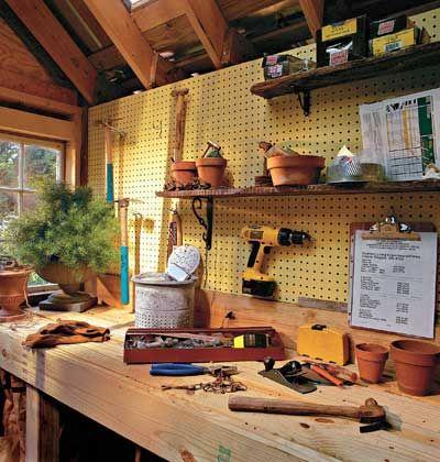 Un Abri De Jardin Transforme En Atelier De Bricolage Atelier