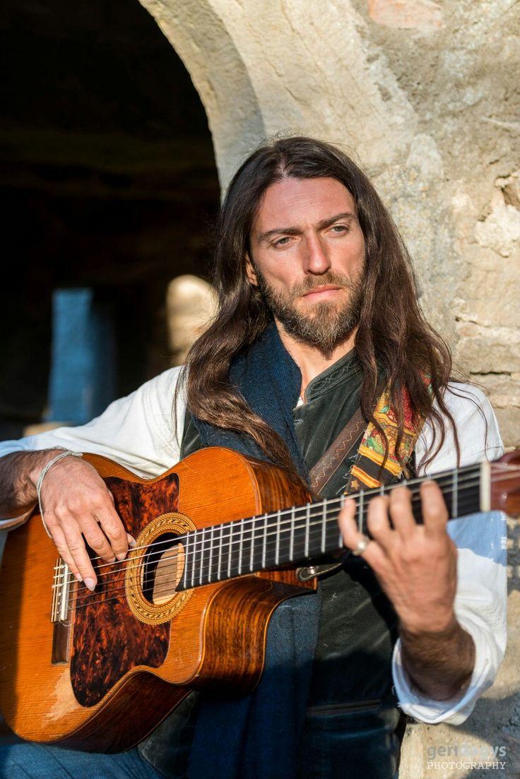 "Estas Tonne the ""modern day troubadour"" who plays his classical guitar in a fusion of Flamenco, Gypsy music & Electronic Soundscape. Photo by Geri Dagys.#estastonne #festival #performance #guitar #music #gypsy #flamenco #latin #goa #meditation #atmospheric"