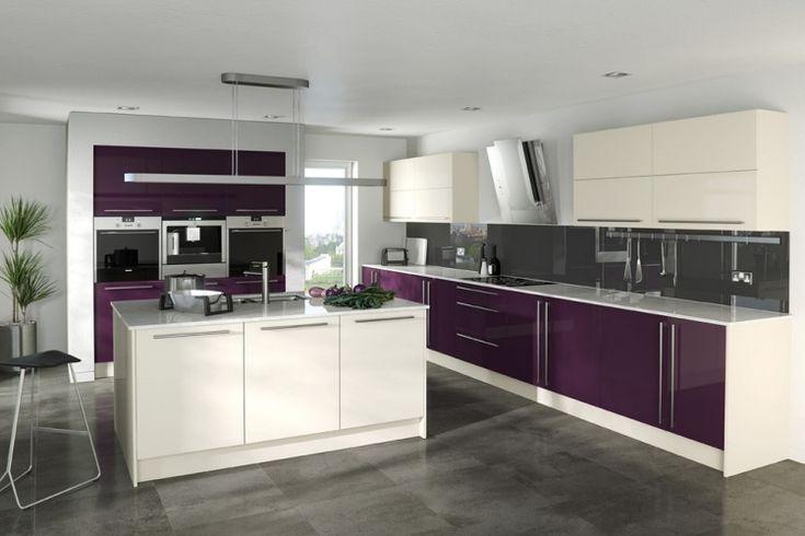 couleur aubergine et quoi l 39 associer dans chaque pi ce cuisine armoires et d coration. Black Bedroom Furniture Sets. Home Design Ideas