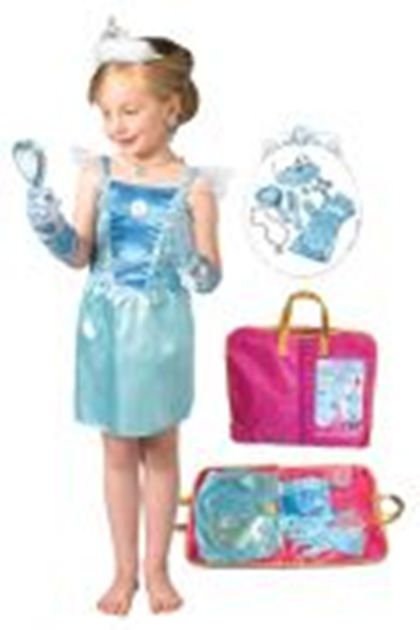 Cinderella Costume And Accessory Pack In Suit Carrier Fancy Dress Up Party