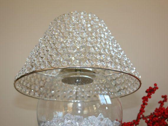 Crystal lamp shades crystal candle holder chandelier by for Diy crystal chandelier lamp