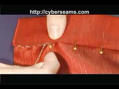 This video demonstrates how to sew a whip stitch by hand. This stitch is great for hemming fabric and for decorative stitching.    To view the article associated with this video, visit us at http://cyberseams.com/article/105045/basics/how_to_sew_by_hand_basic_stitches.html    To learn more about sewing, crafting, knitting, and to get project ide...