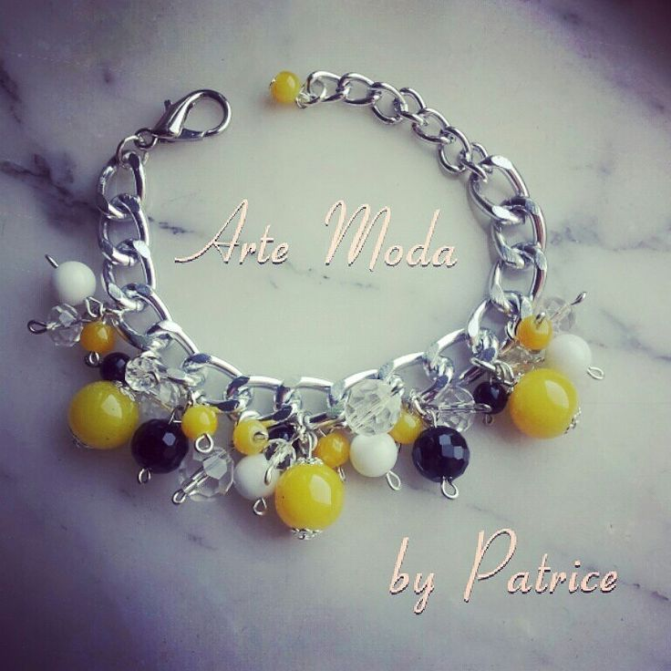 Collezione Patrice creation: modello Maia , bracciale con catena in argento e con pietre di colore giallo, nero, bianco e bianco trasparente. ..per info:patriceartemoda@gmail.com...#artemoda#bijoux#handmade#bigiotteria#accessory#moda#madeinitaly#instagram#depop#italia