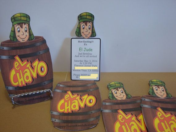 El Chavo del Ocho Party Invitations or Thank you by HappyToons