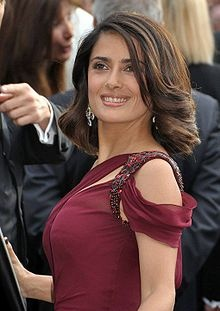 As far as hollywood goes, Salma Hayek is the most beautiful actress to me.  She reminds me that curvy is beautiful and I aspire to look more like her.