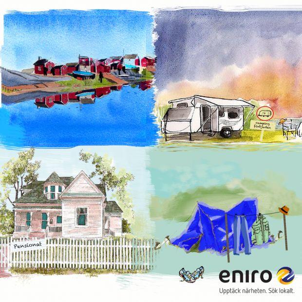Sök upp ditt semesterboende med Eniroappen i sommar!