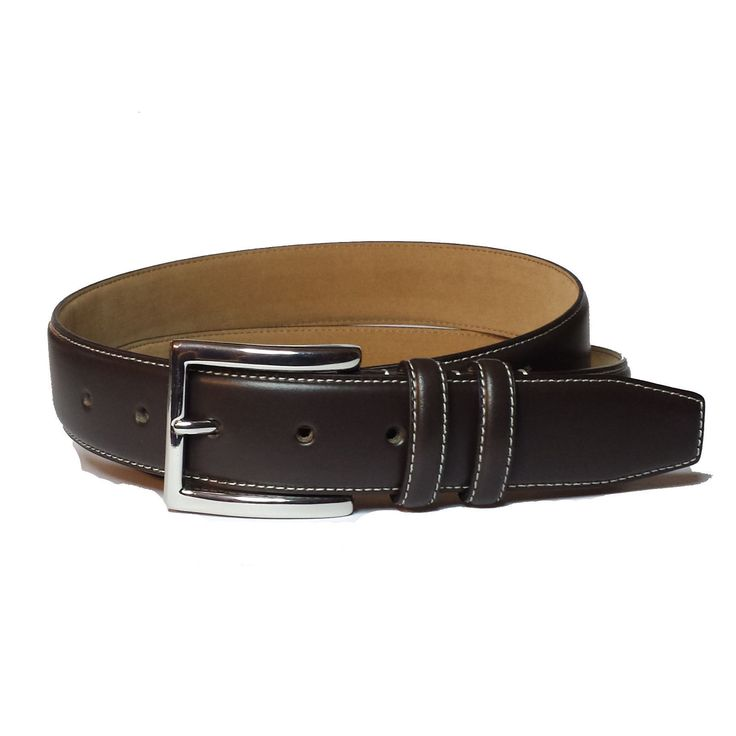 #ebay Cole Haan Men's belt Brown Italian Bonded leather 32mm width Contrast Stitch ColeHaan withing our EBAY store at  http://stores.ebay.com/esquirestore