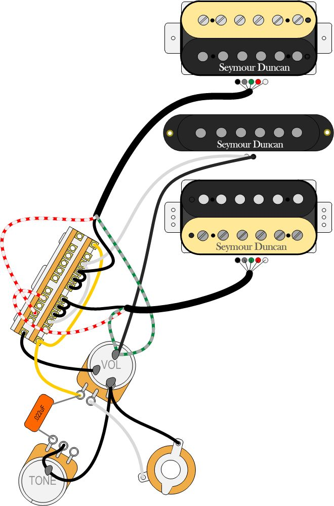 53170ecd1b61146d1e9d6ec1cd00e8fb jeff baxter guitar building 17 best guitar wiring diagrams images on pinterest electric DiMarzio HSH Wiring-Diagram at readyjetset.co
