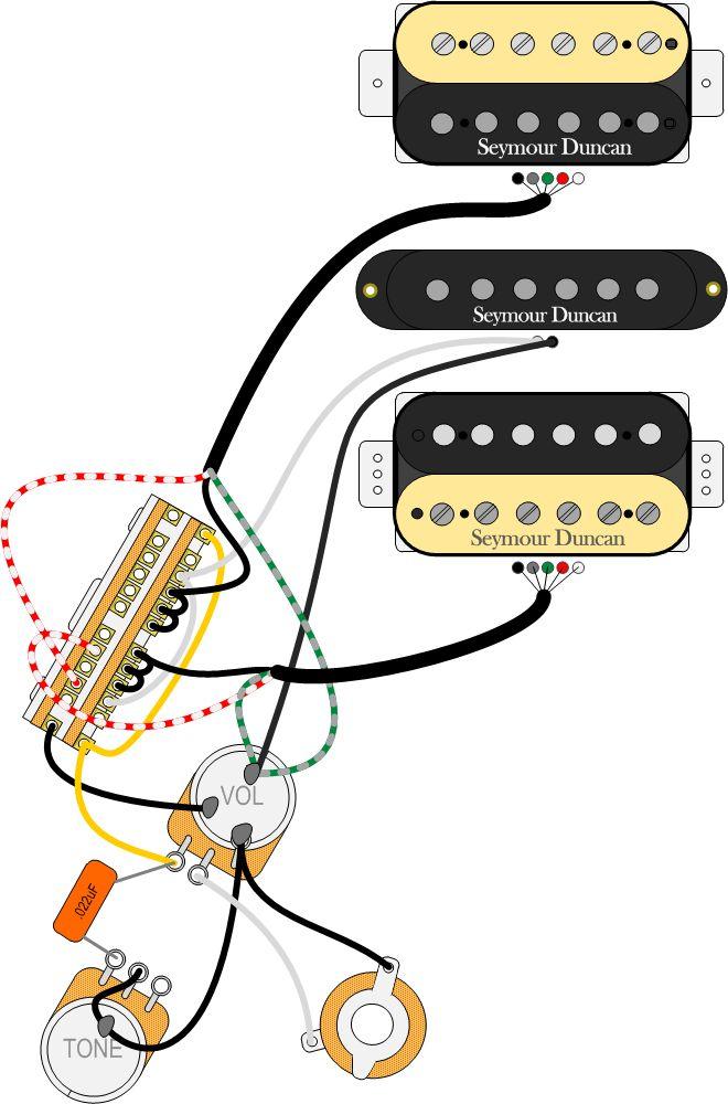 Superswitch HSH Autosplit wiring | Luthier | Gitarrenbau