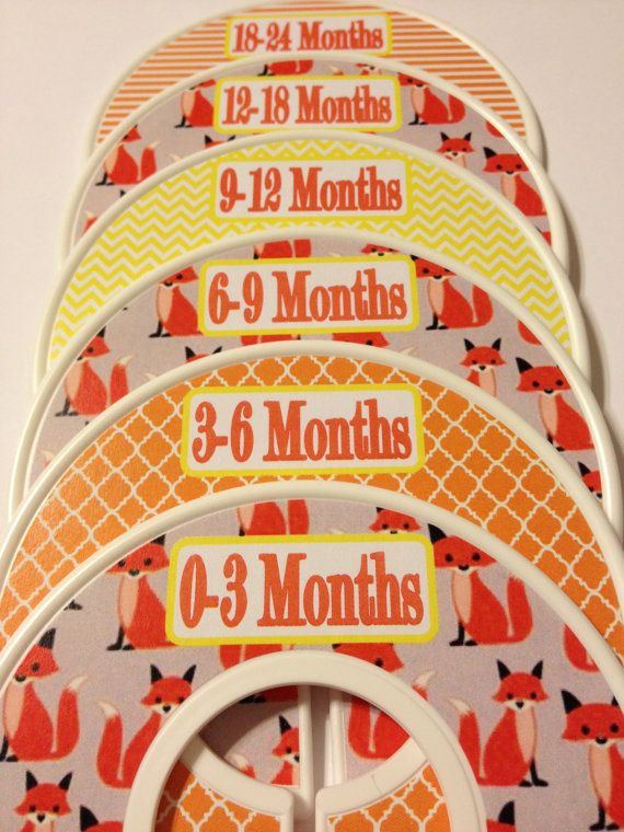 Custom Baby Closet Dividers Organizers Fox by GinaMarieOriginals
