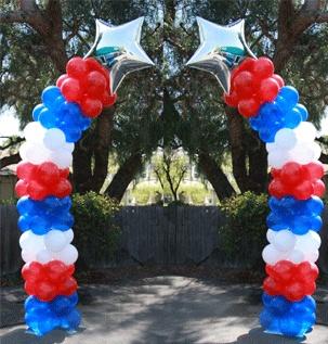 Balloonatics Shooting Star Column Arch