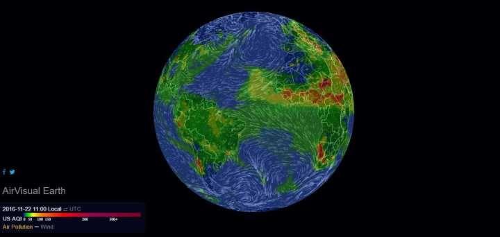 Mapa interativo mostra poluição do planeta em tempo real #timbeta #sdv #betaajudabeta