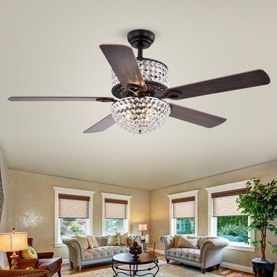 House Of Hampton 52 Caruthersville 5 Blade Ceiling Fan Light Kit
