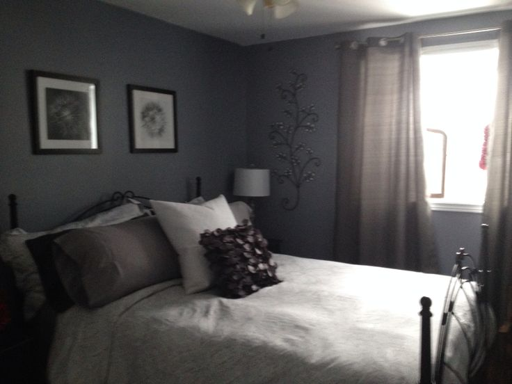 Grey spare bedroom