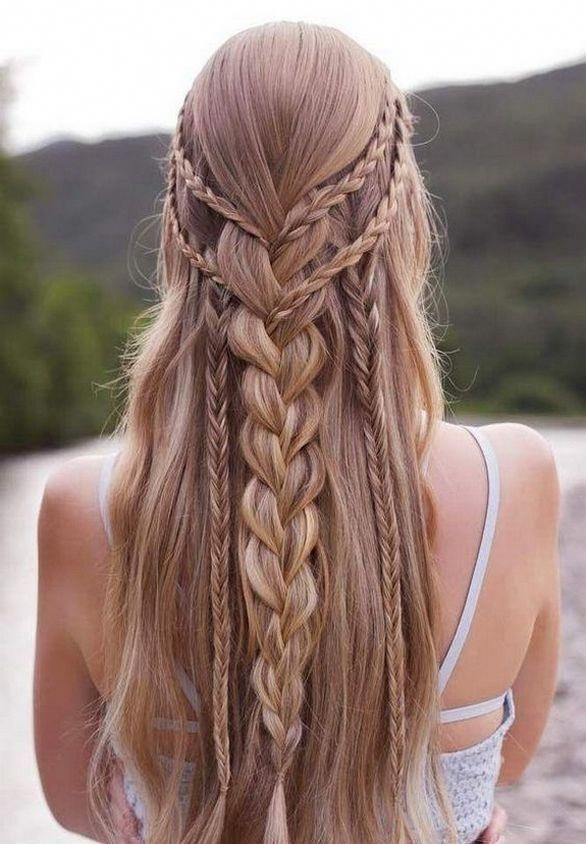 20 Superb Braids With Shaved Sides Worth Copying Long Hair Styles Thick Hair Styles Hair Styles