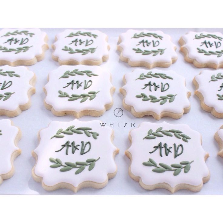 @shopthewhisk...monogram cookie                                                                                                                                                      More
