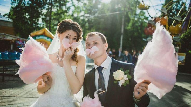 Casamento com com algodão doce