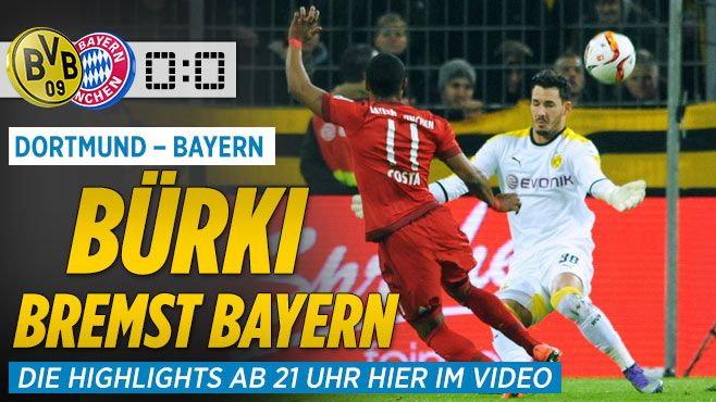 Bürki bremst Bayern - lol,only draw 0:0 @FCBayern vs @BVB thx to #scorpio Roman #Buerki ;D http://www.bild.de/bundesliga/1-liga/saison-2015-2016/spielbericht-borussia-dortmund-gegen-fc-bayern-muenchen-am-25-Spieltag-41817640.bild.html @FCBayernEN: HOW ON EARTH DID HE (#scorpio Roman #Buerki ;D) SAVE THAT?! @kingarturo23 denied the opener! - Hats off to #Bürki for that save! What a goal it would have been! #BVBFCB 0-0 https://twitter.com/FCBayernEN/status/706191941319467008