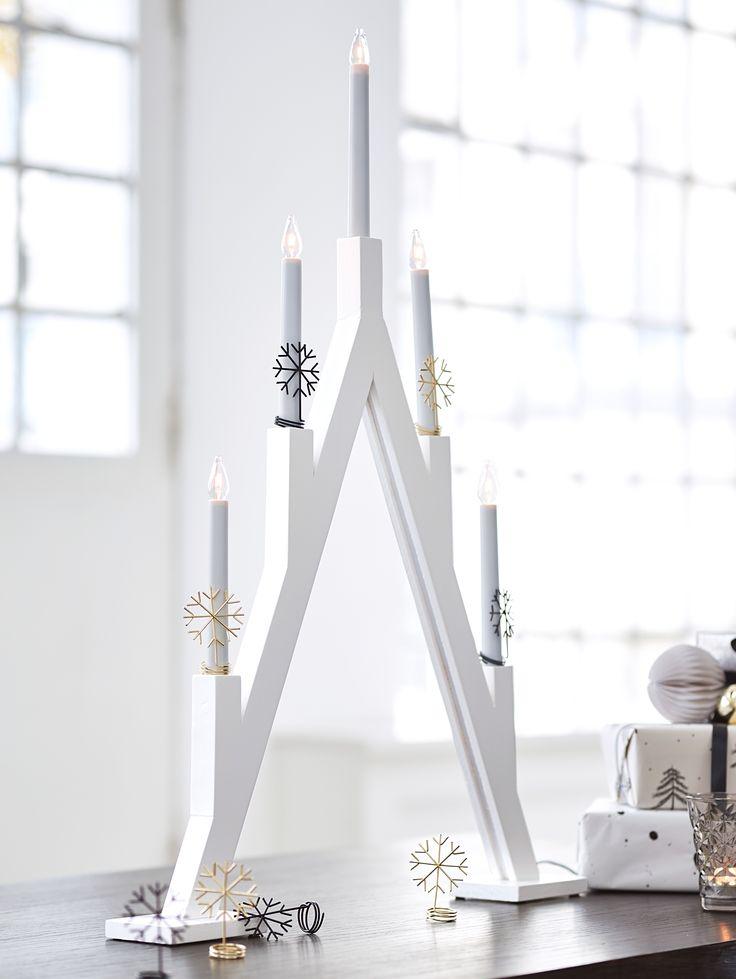 MARKSLÖJD Kerzendekoration, 2 Tlg., Dekoration, Tischlicht,  Weihnachtsdekoration.