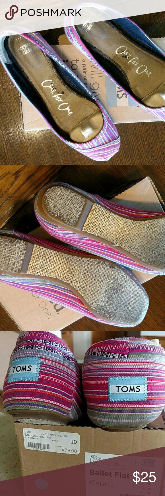 Tom's ballet flat Multi color, gently used Toms Shoes Flats & Loafers