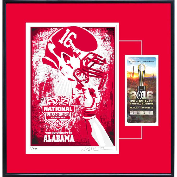 Alabama Crimson Tide College Football Playoff 2015 National Champions Serigraph Ticket Frame - $103.99