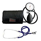 Blutdruckmessgerät Oberarm Original Boso K 1 shock protected Neuware Garantie + Doppelkopf Stethoskop Blau Stetoskop Doppelkopfsttehoskop Tiga-Med