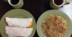 Anote receita de tapioca com ovo mexido para o café da manhã