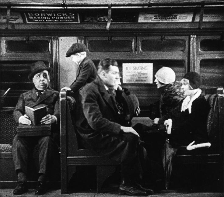 Blackmail (1929) Hitchcock cameo
