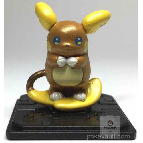 Pokemon 2017 Takara Tomy Moncolle Get Series #6 Shiny Metallic Alola Raichu Secret Rare Figure