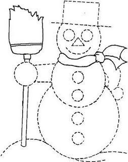Graphisme:le bonhomme de neige