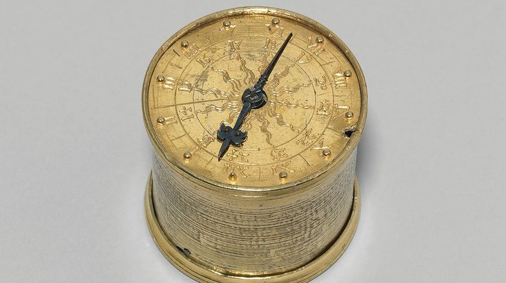 Dosenuhr, sogenannte Henlein-Uhr, Räderuhr des Nürnberger Schlossers Peter Henlein. Bild: Germanisches Nationalmuseum, Nürnberg