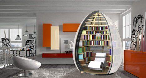 egg-shaped mini-library