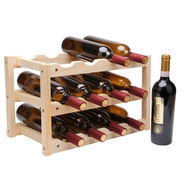 9 bottles metal free standing countertop wine racks tabletop small wine holder