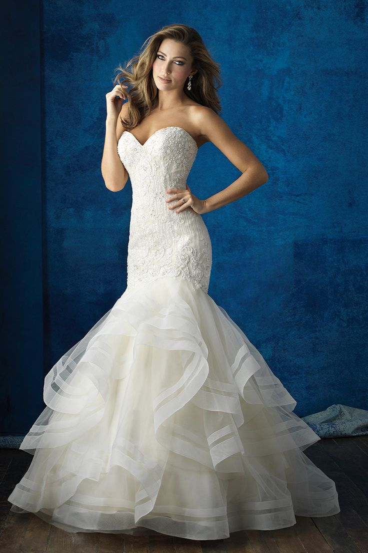 Christmas wedding dress mishaps - Allure Bridals Mermaid Gown With A Ruffled Horsehair Bottom Style 9364