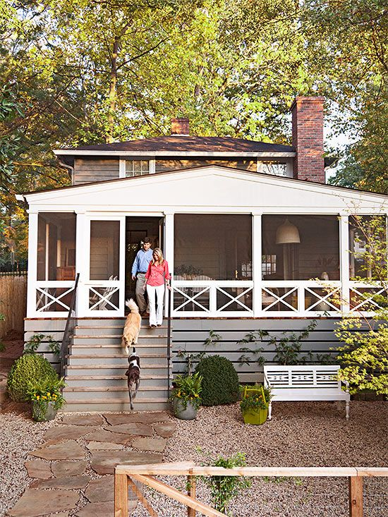 The newly redone front porch feels like a destination, thanks to key changes: http://www.bhg.com/home-improvement/porch/porch/before-and-after-porch-makeovers/?socsrc=bhgpin042214frontporchretreat&page=2