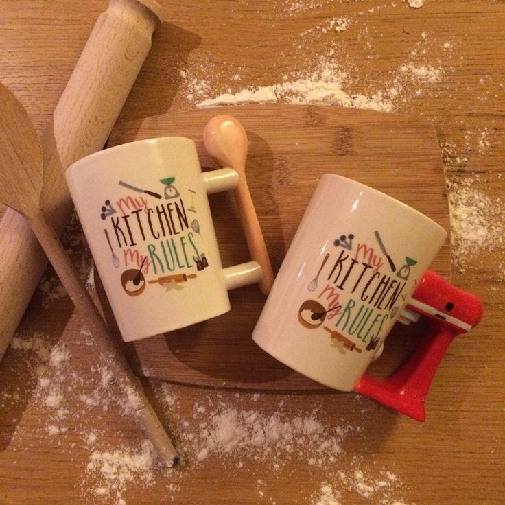 """Presenter till henne - """"My Kitchen Rules"""", en stor kopp kaffe för en dag i köket. #presentertillhenne #mugg #köket #mugg #giftidea"""