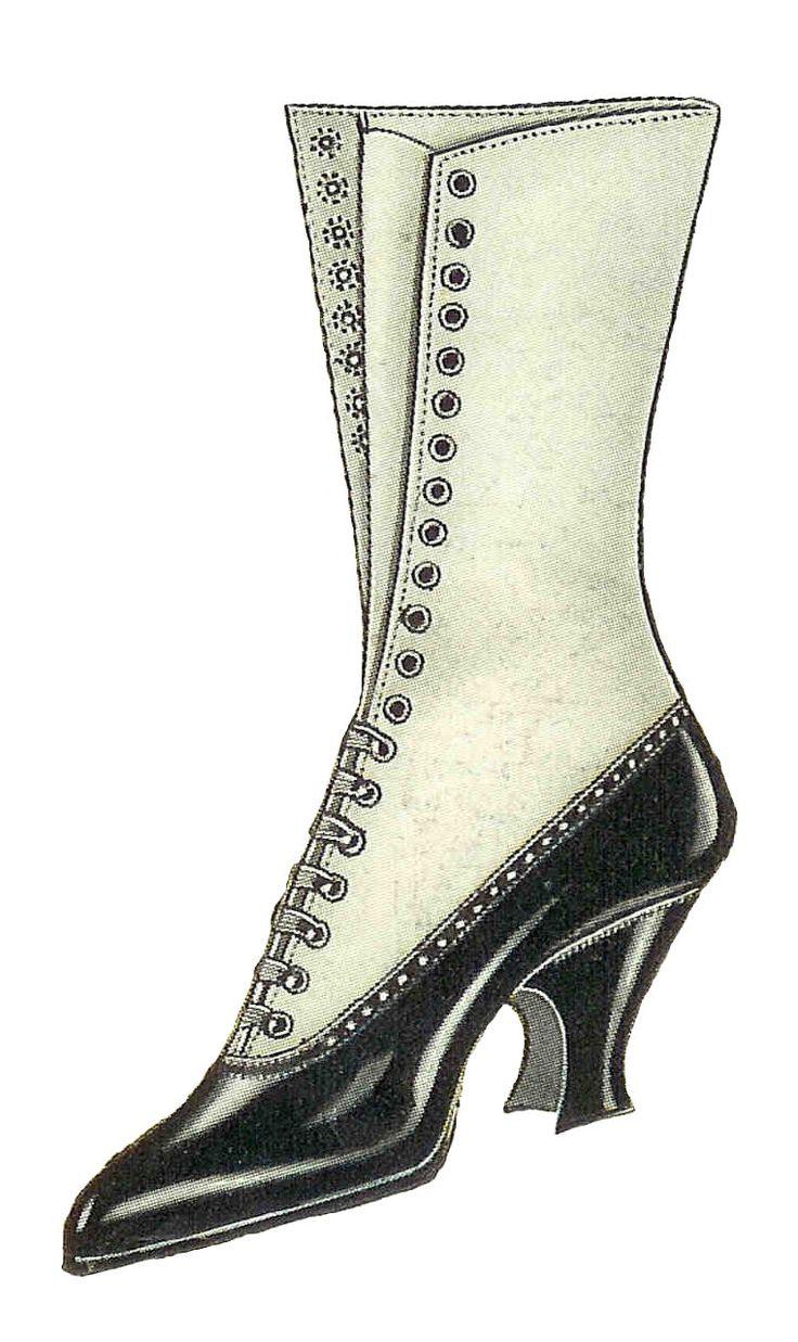 Boots fashion pic boots clip art - Antique Images Free Shoe Clip Art Vintage Graphic Of Womens Shoe Fashion 1917