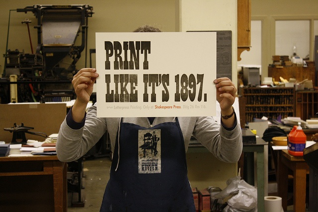 Print Like It's 1897 by Shakespeare Press