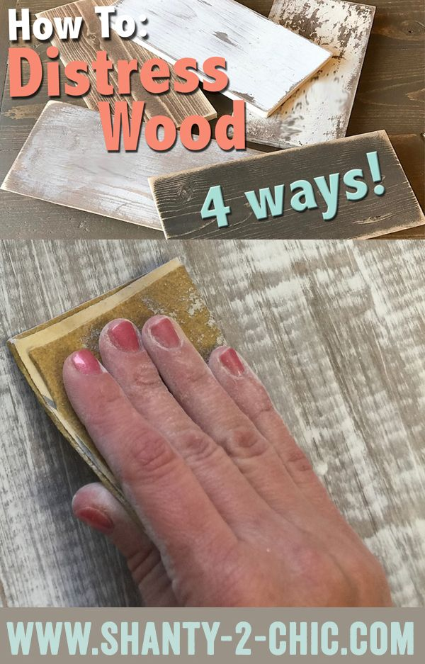 How to create distressed wood finishes.