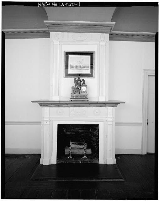 11.  DETAIL, PARLOR MANTEL - Magnolia Mound, 2161 Nicholson Drive, Baton Rouge, East Baton Rouge Parish, LA
