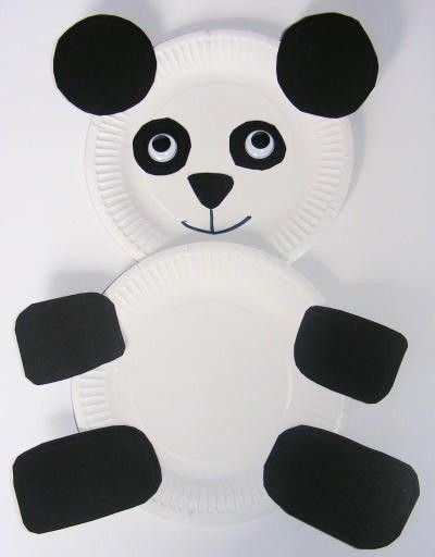 Panda - paper plates & construction paper | Chinese New Year Animals