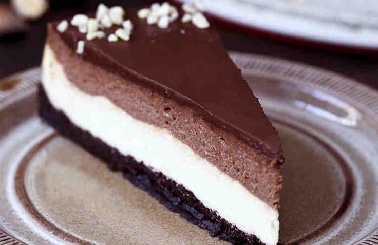 Receta de tarta de queso con Nutella