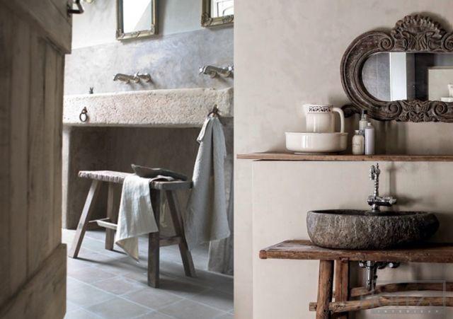 inspiration les lavabos en pierre brute cottage wish pinterest. Black Bedroom Furniture Sets. Home Design Ideas