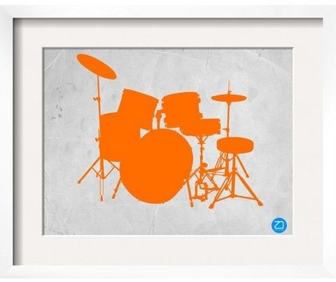 Add a touch of musical inspiration to your room with the Art.com, Orange Drum Set by NaxArt, Framed Print. The perfect way to brighten up dorm rooms, children's bedrooms or any other space that could use a little breath of fresh air, this distinctive giclee print is just what you've been looking for. The crisp, white matting, sturdy wood frame and durable acrylic surface cover will keep this wall art looking great for years to come. The included mounting hardware ma