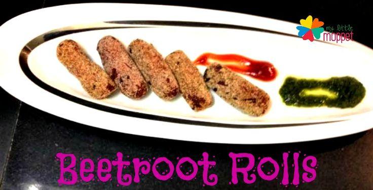 Beetroot Rolls Recipe - Healthy Evening Snacks Recipe | My Little Moppet